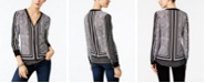 INC International Concepts INC Printed Zip-Up Top, Created for Macy's
