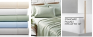AQ Textiles  CLOSEOUT! Bradford StayFit 6-Pc. Sheet Sets, 800 Thread Count Combed Cotton Blend