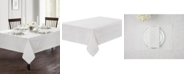 "Waterford Esmerelda White 70"" x 144"" Tablecloth"