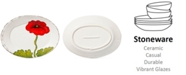 VIETRI Lastra Poppy Collection Small Oval Platter