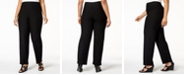Eileen Fisher Eileen Fisher Plus Size SYSTEM Washable Crepe Straight-Leg Pants