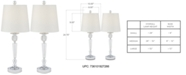 Kathy Ireland Pacific Coast Set of 2 Glamour Table Lamps, Created for Macy's