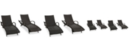 Furniture Ventura Outdoor Chaise Lounge (Set Of 4), Quick Ship