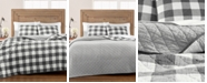 Martha Stewart Collection CLOSEOUT! Box Plaid Reversible Yarn-Dyed Quilt & Sham Collection, Created for Macy's