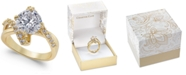 Charter Club Gold Plate Crystal Bypass Ring, Created for Macy's
