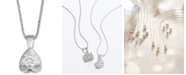 """Macy's Diamond Tension-Set 18"""" Pendant Necklace (5/8 ct. t.w.) in 14k White, Yellow or Rose Gold"""