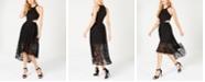Avec Les Filles Cutout Lace Fit & Flare Dress