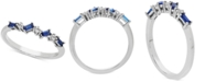 Macy's Lab-Created Sapphire (3/8 ct. t.w.) & White Sapphire Accent Stacking Ring in Sterling Silver (Also available in Lab-Created Ruby)