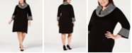 Jessica Howard Plus Size Cowl-Neck Sweater Dress