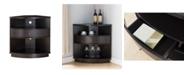 Furniture of America Rayah Corner Wine Cabinet