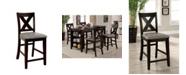 Furniture of America Elio Dark Walnut Pub Chair (Set of 2)