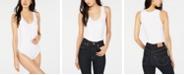 Bar III Scoop-Neck Sleeveless Bodysuit Top, Created for Macy's