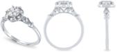 Macy's Diamond Cluster Ring ( 1/4ct. t.w.) in 14k White Gold