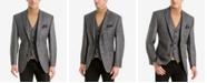 Lauren Ralph Lauren Men's Classic-Fit Gray Plaid Wool Matching Jacket and Vest