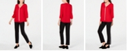 JM Collection Embellished Blouse & Side-Stripe Pants, Created for Macy's