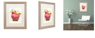 "Trademark Global Jennifer Nilsson Sweet Cherry Chip Matted Framed Art - 11"" x 14"" x 0.5"""