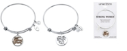 """Unwritten """"Here's to Strong Women"""" Charm Bangle Bracelet in Stainless Steel and Gold-Tone"""