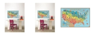 Brewster Home Fashions Kids Usa Dry Erase Map Decal