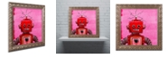 "Trademark Global Craig Snodgrass 'Orangebot' Ornate Framed Art, 16"" x 16"""