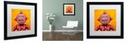 """Trademark Global Craig Snodgrass 'Weebot-Friends' Matted Framed Art, 16"""" x 16"""""""