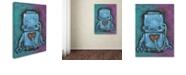 """Trademark Global Craig Snodgrass 'Weebot-Heart' Canvas Art, 35"""" x 47"""""""