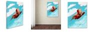 """Trademark Global Craig Snodgrass 'Rocket Bot' Canvas Art, 14"""" x 19"""""""