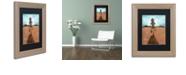 """Trademark Global Craig Snodgrass 'A Long Walk' Matted Framed Art, 11"""" x 14"""""""
