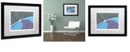"""Trademark Global Viz Art Ink 'A New Day' Matted Framed Art, 16"""" x 20"""""""