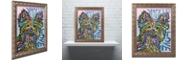 "Trademark Global Dean Russo 'Yorkie Luv' Ornate Framed Art, 16"" x 20"""