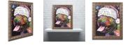"""Trademark Global Dean Russo 'Christmas Pitbull' Ornate Framed Art, 11"""" x 14"""""""