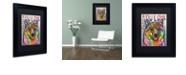 "Trademark Global Dean Russo 'Shiba Inu Luv' Matted Framed Art, 11"" x 14"""