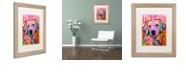 """Trademark Global Dean Russo 'Love is Golden' Matted Framed Art, 16"""" x 20"""""""