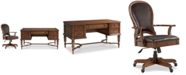 Furniture Clinton Hill Cherry Home Office, 2-Pc. Set (Writing Desk & Leather Desk Chair)