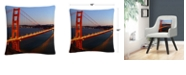 "Baldwin Golden Gate Sf Photography Dusk 16x16"" Decorative Throw Pillow by Pierre Leclerc"