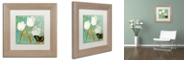 """Trademark Global Color Bakery 'White Tulips I' Matted Framed Art, 11"""" x 11"""""""