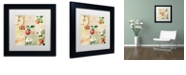 "Trademark Global Color Bakery 'Apple Blossoms Iv' Matted Framed Art, 11"" x 11"""