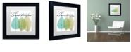 "Trademark Global Color Bakery 'Seasons I' Matted Framed Art, 11"" x 11"""