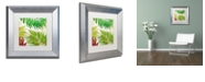 "Trademark Global Color Bakery 'Brasilia I' Matted Framed Art, 11"" x 11"""