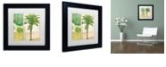 "Trademark Global Color Bakery 'Paradise I' Matted Framed Art, 11"" x 11"""