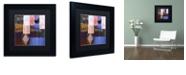 """Trademark Global Color Bakery 'Afrikan Batik Iv' Matted Framed Art, 11"""" x 11"""""""