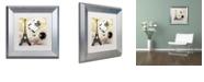 "Trademark Global Color Bakery 'Ceil Jaune Ii' Matted Framed Art, 11"" x 11"""