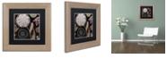 "Trademark Global Color Bakery 'Daisy Cartwheels I' Matted Framed Art, 11"" x 11"""