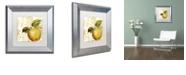 """Trademark Global Color Bakery 'Cafe D?Or I' Matted Framed Art, 11"""" x 11"""""""