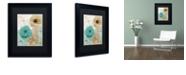 "Trademark Global Color Bakery 'Beach Poppies I' Matted Framed Art, 11"" x 14"""