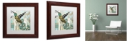 "Trademark Global Color Bakery 'Hummingbird Batik Ii' Matted Framed Art, 11"" x 11"""