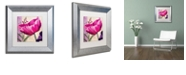 "Trademark Global Color Bakery ' Pink Poppy I ' Matted Framed Art, 11"" x 11"""