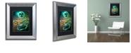 "Trademark Global Color Bakery 'Art Nouveau Zodiac Cancer' Matted Framed Art, 11"" x 14"""