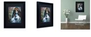 """Trademark Global Color Bakery 'Art Nouveau Zodiac Virgo' Matted Framed Art, 11"""" x 14"""""""