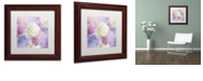 "Trademark Global Color Bakery 'Hortensia Groundless Warm Tones' Matted Framed Art, 11"" x 11"""