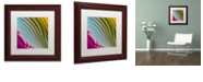 "Trademark Global Color Bakery 'Satin I' Matted Framed Art, 11"" x 11"""